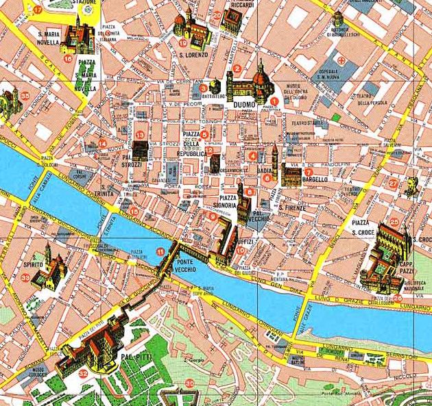 Centre Ville Florence En Italie